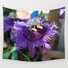 Purple Passiflora Wall Tapestry