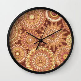 Kaleidoscopic-Canyon colorway Wall Clock