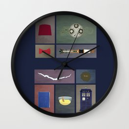 Eleven (Doctor Who) Colors Wall Clock