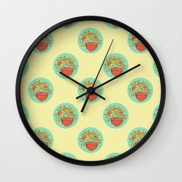 Clay Pot Wall Clock