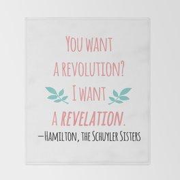 THE SCHUYLER SISTERS | HAMILTON Throw Blanket