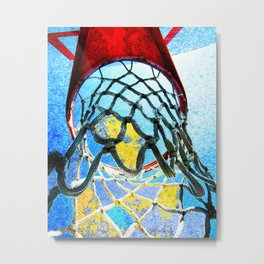 Modern basketball art 5 Metal Print
