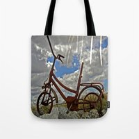 amelie Tote Bags featuring Amelie by Joe Pansa