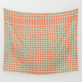 Left - Orange and green Wall Tapestry