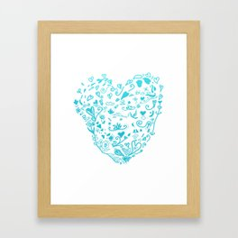 Blue Heart Framed Art Print
