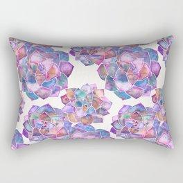 Rosette Succulents – Galaxy Palette Rectangular Pillow