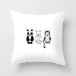Little Animals Throw Pillow