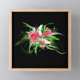 Pastells black by Mia Niemi Framed Mini Art Print