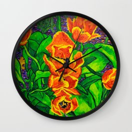View of Tulips Wall Clock