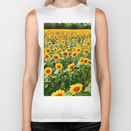 Field of Sunny Flowers Biker Tank
