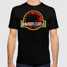 Bowser's Castle MEDIUM Black Mens Fitted Tee