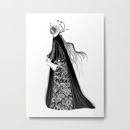 The Norse Goddess Snotra Metal Print