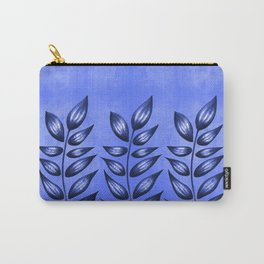 Blue Plant With Pointy Leaves Carry-All Pouch