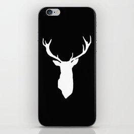 Deer Black and White iPhone Skin