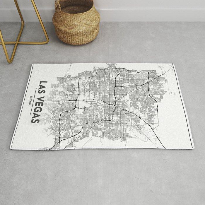 Minimal City Maps - Map Of Las Vegas, Nevada, United States Rug