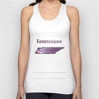tennessee Tank Tops featuring Tennessee Map by Roger Wedegis