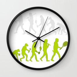 Evolution of Tennis Species Wall Clock
