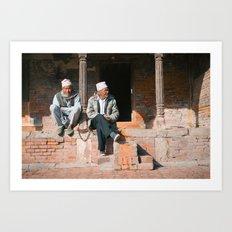 Bhaktapur Men Art Print
