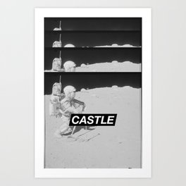 SURFACE // CASTLE Art Print