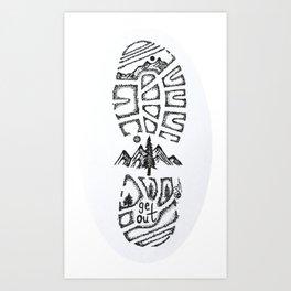 """Tread Lightly""  Hand-Drawn by Dark Mountain Arts Art Print"