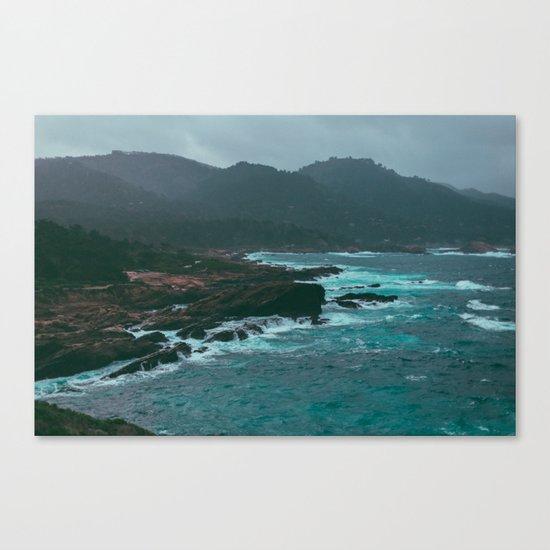 Big Sur Rocky Shore Canvas Print