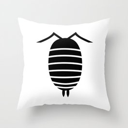 Bugs: abstract Isopod Throw Pillow
