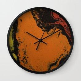Dirty Paint Pour 5, Fluid Art Reproduction Wall Clock