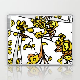 Golden Petals on Branches Laptop & iPad Skin