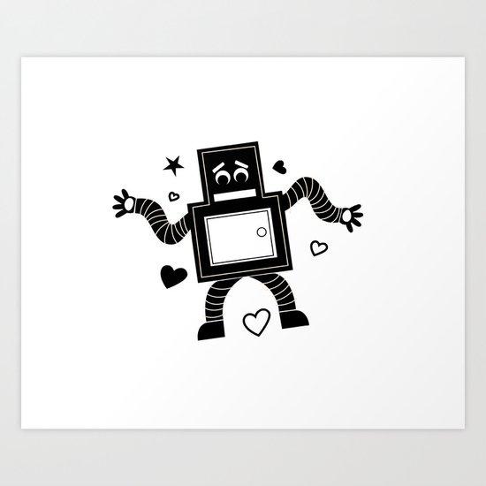 Rant Robot Art Print