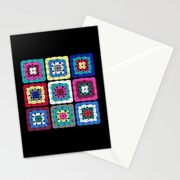 Granny Square Stationery Cards
