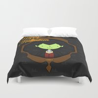 dracula Duvet Covers featuring Dracula by Lalu - Laura Vargas