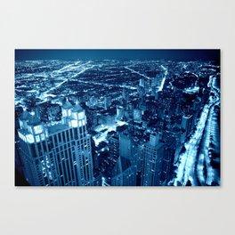 Chicago Nights Blue Canvas Print