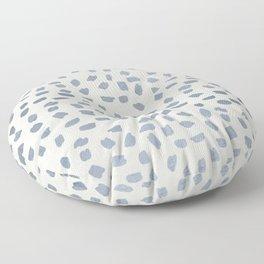 Simply Ink Splotch Indigo Blue on Lunar Gray Floor Pillow