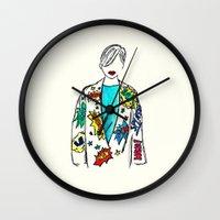 comic Wall Clocks featuring Comic by Fatima khayyat