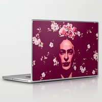 frida Laptop & iPad Skins featuring Frida by Marialaura