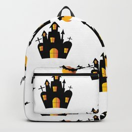 Haunted House and Full Moon Bats Backpack