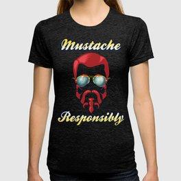 Mustache Responsibly T-shirt