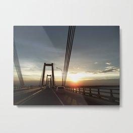 Bridge over Lake Maracaibo - II - August 22nd, 2008 Metal Print