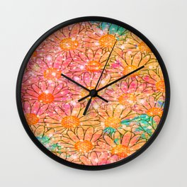 gorgeous marguerite-132 Wall Clock