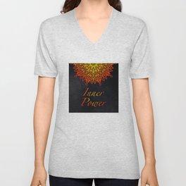 Inner Power is Always your Birth Right Mandala Unisex V-Neck