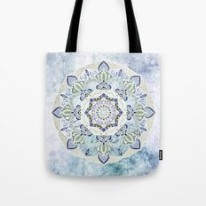 BLUE YERA MANDALA Tote Bag