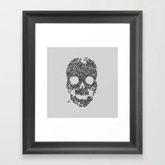 Panda is Cool (Grey) Framed Art Print