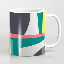Modern Geometric 65 Green Coffee Mug