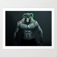 bane Art Prints featuring Bane by Midu