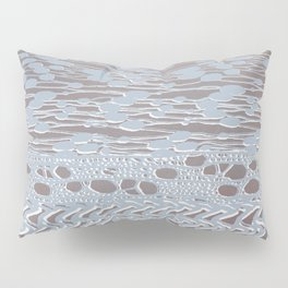 knit patchwork in pale mood Pillow Sham