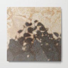 pool floor tree floral leaves shadow 1 Metal Print
