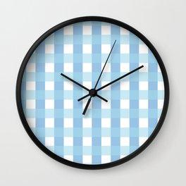 Blue Rustic Plaid Wall Clock