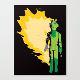 Burning Greedo Canvas Print