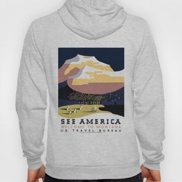 Vintage See America - Montana Travel Hoody
