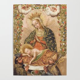 The Virgin Adoring the Christ Child with Two Saints Poster